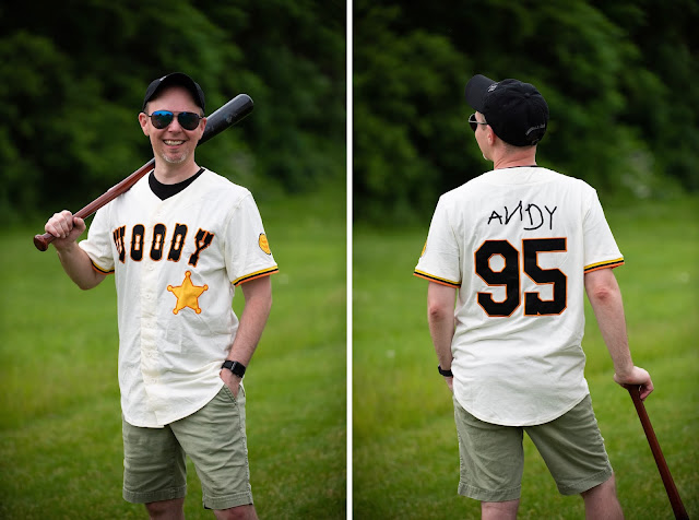 BoxLunch Toy Story Woody Andy Baseball Jersey