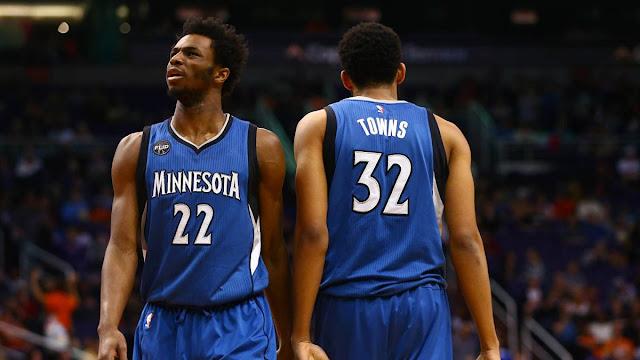 Wiggins et Towns, les 2 jeunes stars des Timberwolves