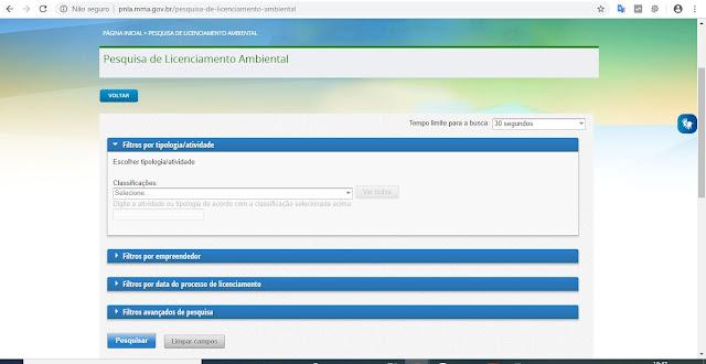 Pesquisa de Licenciamento Ambiental