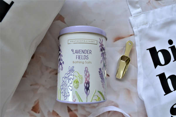 Lavender fields bathing salts with scoop gift for teachers