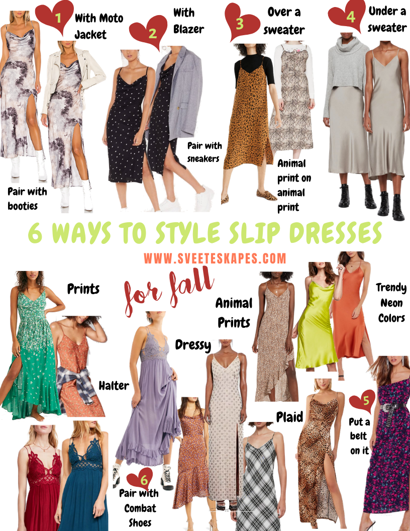How to Style Slip Dresses for Fall featured by top US life and style blog, Sveeteskapes