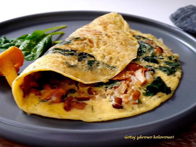 Omlet ze szpinakiem i kurkami - Czytaj więcej »