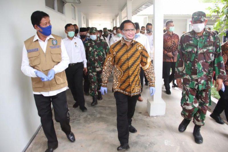 Isdianto Kunjungi RSKI Galang batam dengan Didampingi Menko Polhukam dan Mendagri