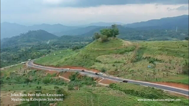 Pasir Salam New Road, Nyalindung Sukabumi Regency Becomes a Favorite Location for Taking Pictures