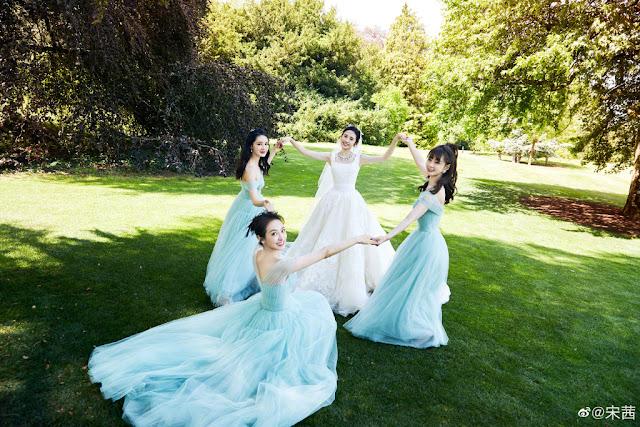 Tang Yixin bridesmaids Li Qin Shen Mengchen Victoria Song