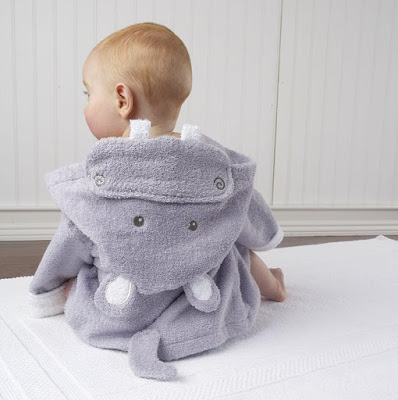 Hooded Hippo Bathrobe