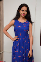 Pallavi Dora Actress in Sleeveless Blue Short dress at Prema Entha Madhuram Priyuraalu Antha Katinam teaser launch 043.jpg