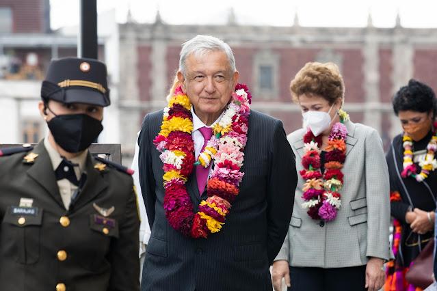 AMLO conmemora 700 años de la fundación de México Tenochtitlan