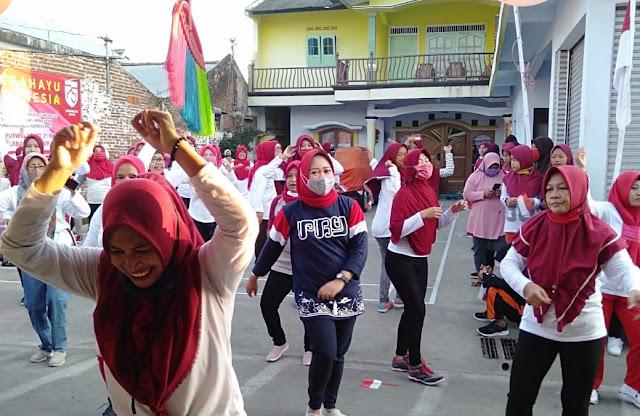 Senam dan Lomba Mancing Bersama Digelar di Kelurahan Purbalingga Kulon
