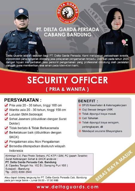 Lowongan Kerja PT. Delta Garda Persada Bandung