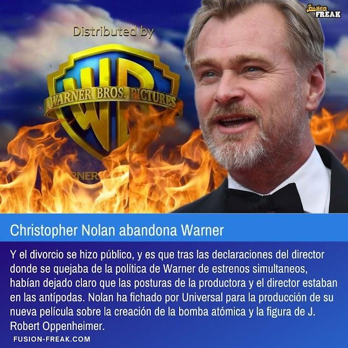 Christopher Nolan, abandona Warner