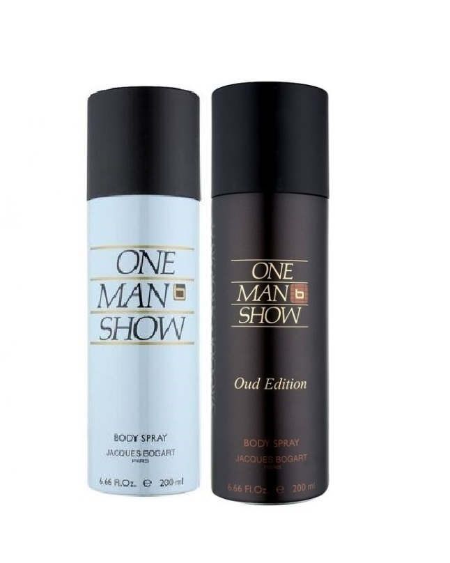 Pack Of 2 - One Man Show Oud Edition And Jacques Bogart Body Spray 20 ml