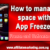 How to Freeze and Unfreeze Apps to Manage Storage Space