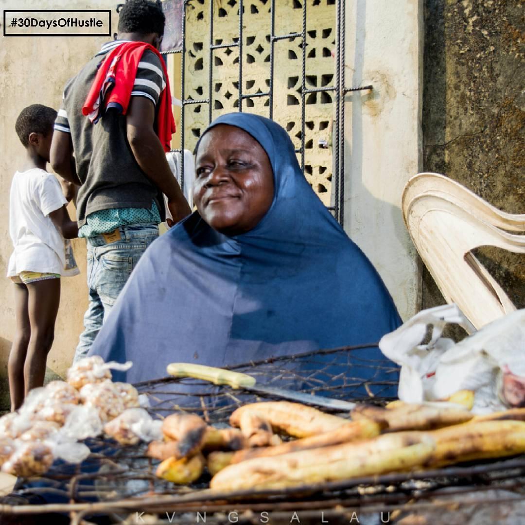 30 days of Hustle - Day 7 - Meet Alhaja Roasted Plantain Seller