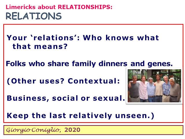 limerick; relationships; Giorgio Coniglio