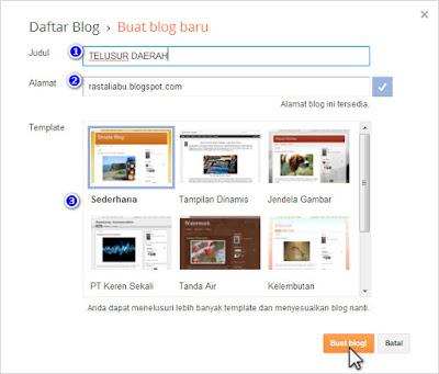 Cara Lain Buat Blog di Blogger