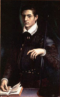 Alfonso II d'Este, a portrait by Girolamo da Carpi
