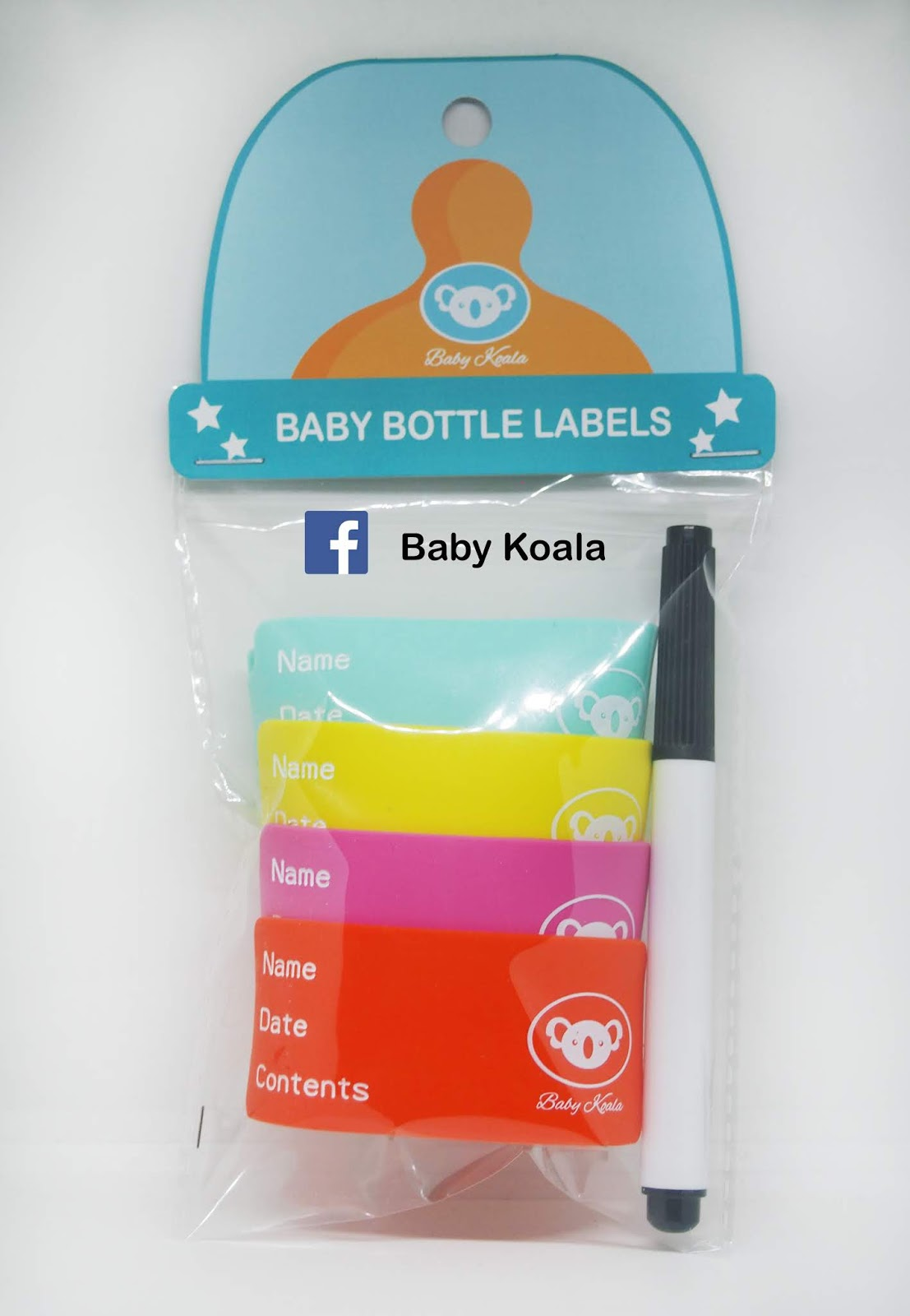 Baby Koala Baby Bottle Label