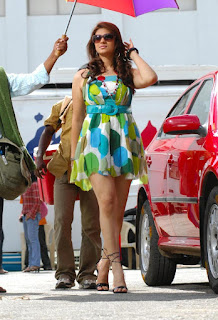 Siya Gautam in colorful Big Dotted Print Gown Spicy Pics