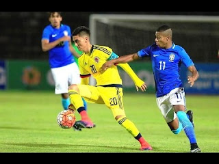 Colombia U20 vs Brasil Sub20 en Sudamericano Sub 20 Ecuador 2017