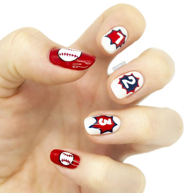 #inktober #inktober2019 #nailart #handpaintednailart #baseballnails