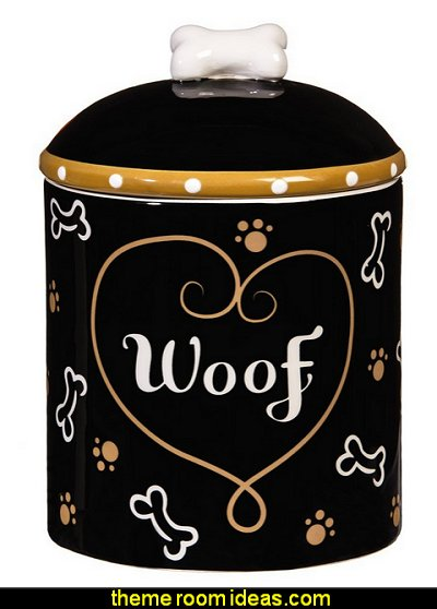 Love and Milk Bones Ceramic Dog Treat Jar