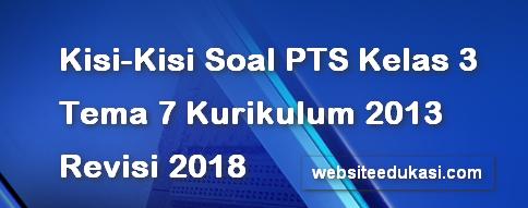 Kisi-Kisi PTS/UTS Kelas 3 Tema 7 K13 Revisi 2018