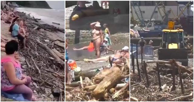 Отдыхающие среди мусора и палок в Сочи россияне шокировали интернет