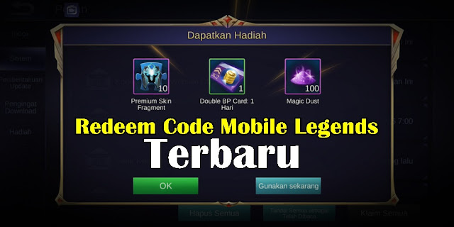 Kumpulan Kode Redeem Mobile Legends September 2019