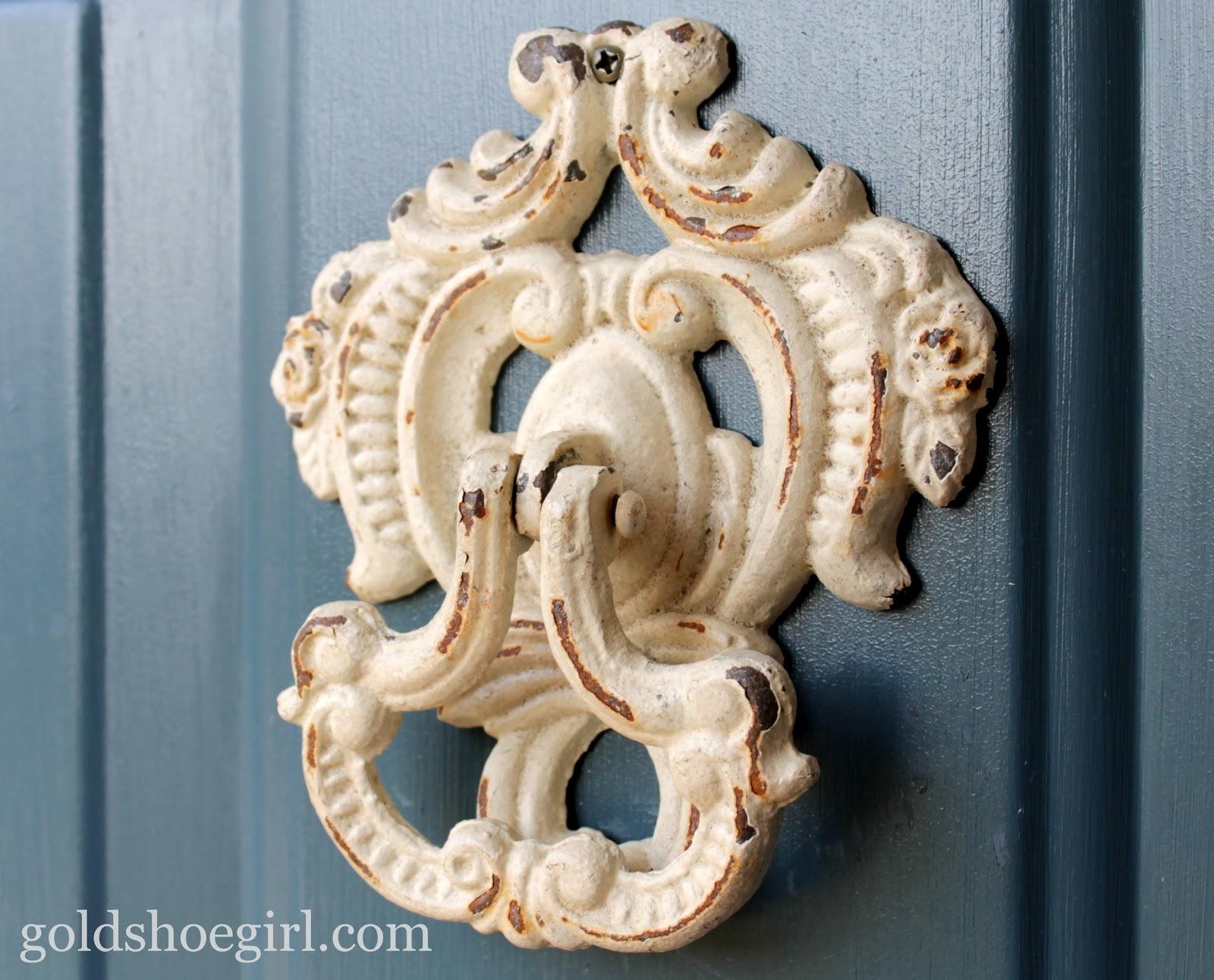 Halloween Scary Doorbell (White with Gold Door Knocker ... |White Door Knocker