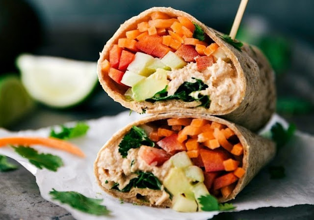 Spicy Tuna Wrap #healthy #lunch