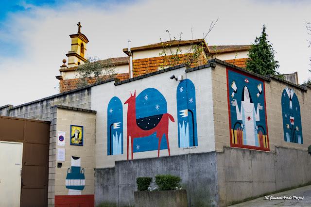 Mural Convento Inmaculada Concepción, por Ruth Juan - Bilbao, por El Guisante Verde Project