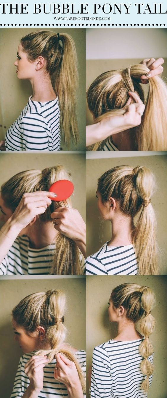 Tutorial Bubble Ponytail - BareFootBlonde