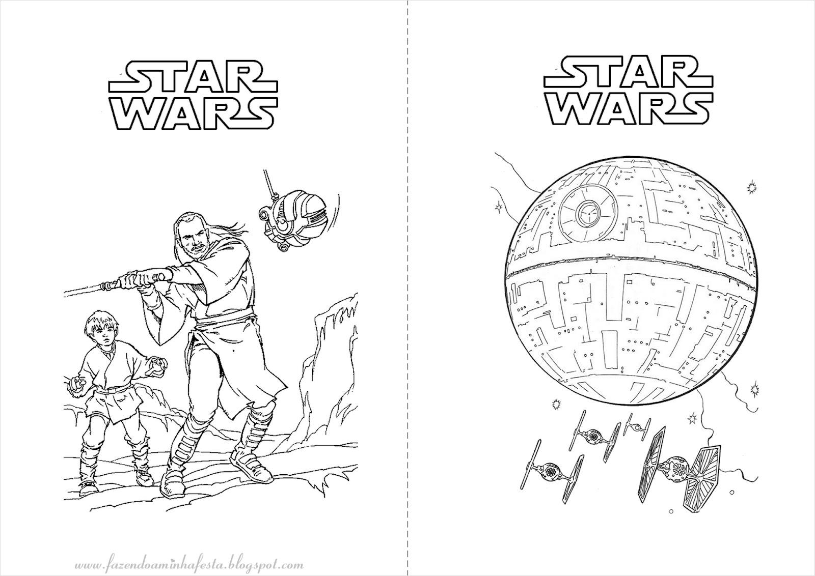 Fazendo A Minha Festa Para Colorir: Star Wars