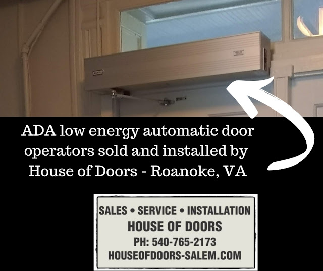 ADA low energy automatic door operators sold and installed by House of Doors - Roanoke, VA