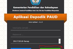CARA REGRISTRASI DAPODIK PAUD 3.2.1