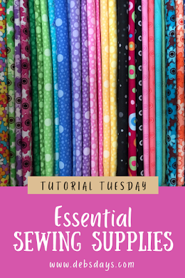 Sewing essential supplies for crafting projects