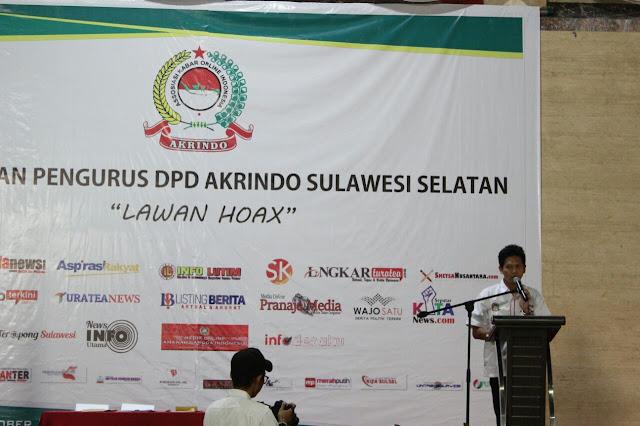 Ketua DPD Sulsel Akrindo : Jurnalis Bukan Teroris