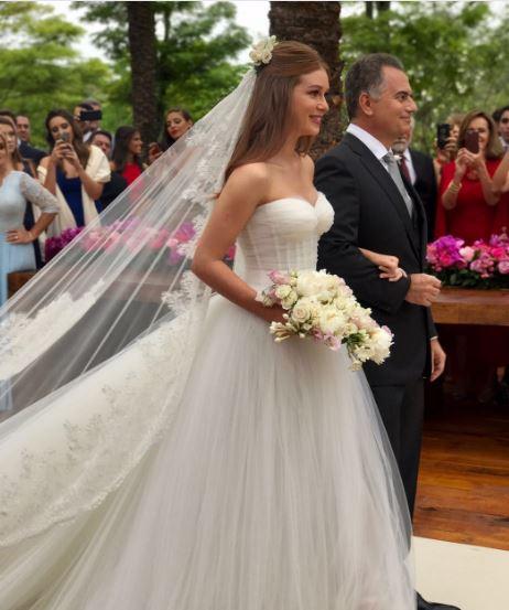 Marina Rui Barbosa com o Pai