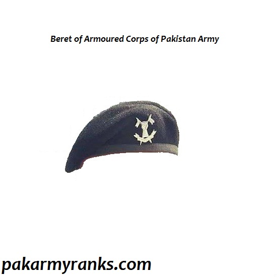 Uniform Beret Of Armoured Corps Of Pakistan Army