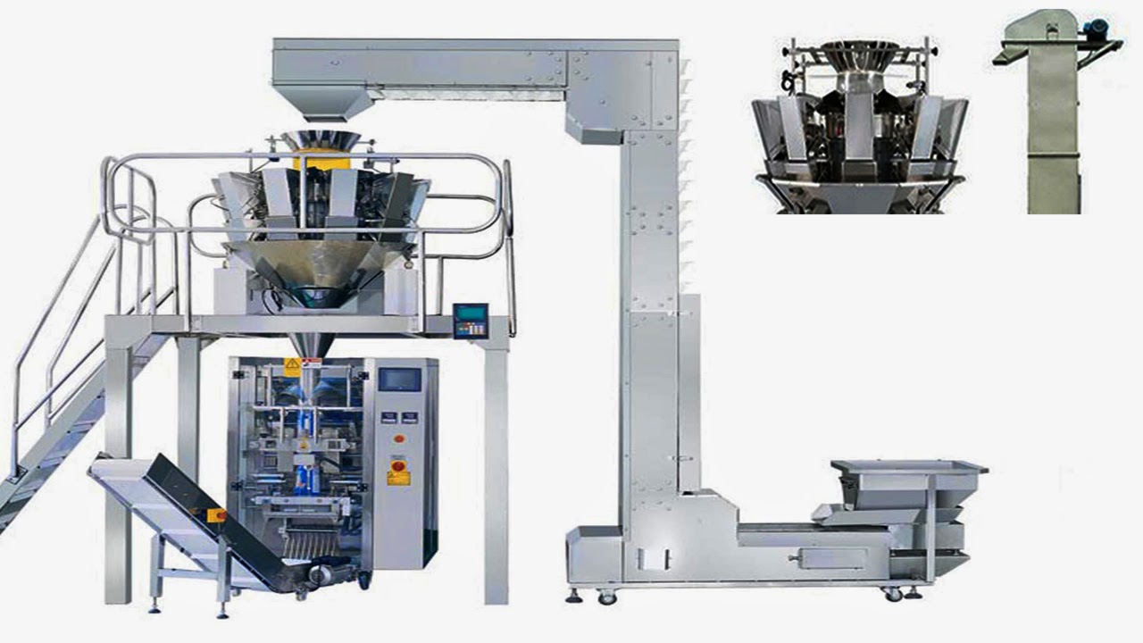 granule packing machine feeding weighing Vertical FFS packaging for chips food fast food snacks