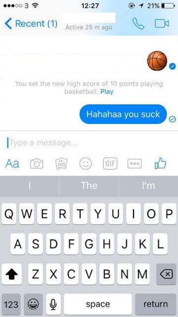 Juego de Basquetbol que está escondido en Facebook Messenger
