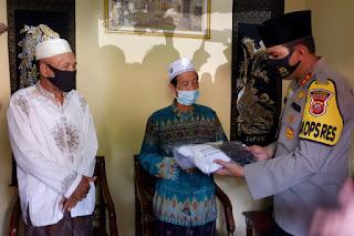 Jalin Silaturahmi Kamtibmas, Kapolres Majalengka Kunjungi Tokoh Agama Ketua PCNU Kadipaten