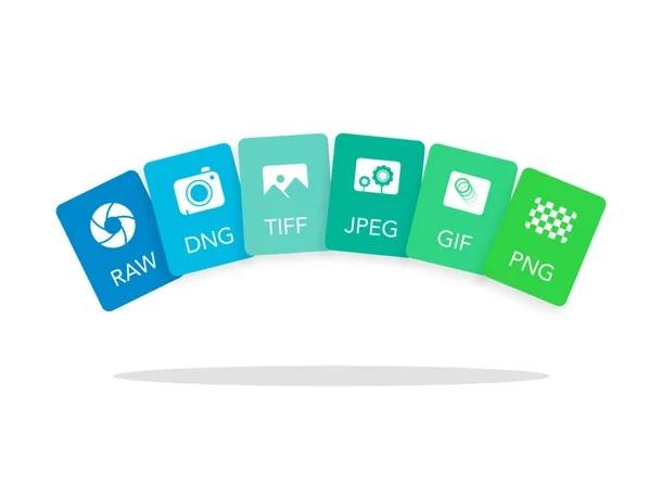الإختلافات بين تنسيقات ملفات الصور (RAW و DNG و TIFF و GIF و PNG و JPEG و WebP)