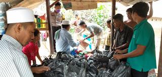 Bantu Warga Sekotong Timur Terdampak Banjir, TNI-Polri Salurkan Sejumlah Bantuan