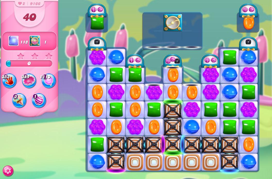 Candy Crush Saga level 9166