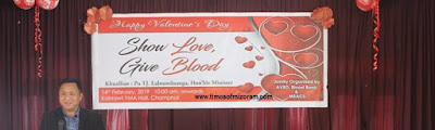 V-DAY BLOOD DONATION IN MIZORAM