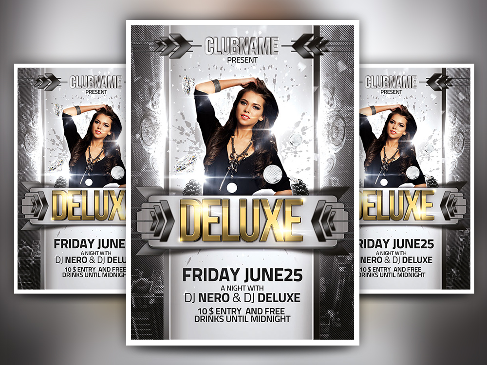 Download Deluxe Party Psd Flyer Template Free Psd Flyers