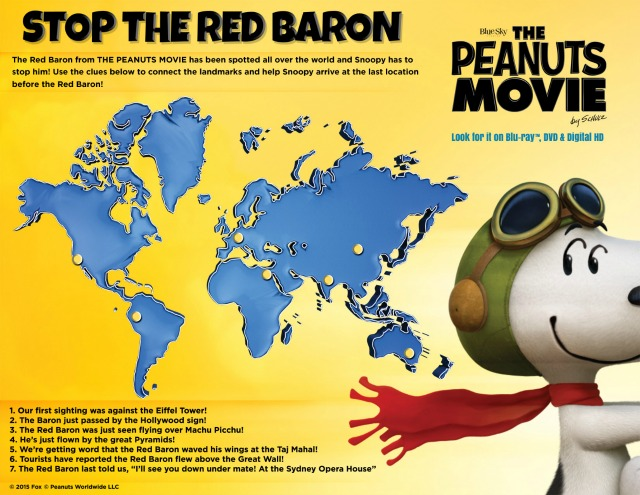 Oz the Terrier The Peanuts Movie Red Baron Activity Sheet