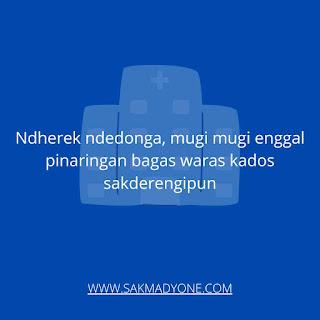 Ucapan semoga lekas sembuh dalam Bahasa Jawa